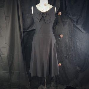 1950s vintage black 2 piece skirt set.